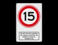 Verkeersbord RVV A01-15 wegenverkeerswetgeving  - BT13b