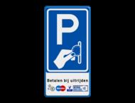 Verkeersbord RVV BW111 - Betaald parkeren met pictogrammen