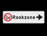 Routebord met pijl - Rookzone + eigen tekst