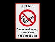 Verbodsbord - ZONE Rookverbod + eigen tekst