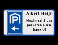 Verkeersbord RVV BW202l met tekst