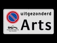 Parkeerplaatsbord E01 + wegsleepregeling en eigen tekst
