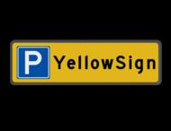 Parkeerplaatsbord met bedrijfsnaam