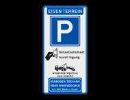 Parkeerbord Eigen terrein - E04 - betaalautomaat - vt461