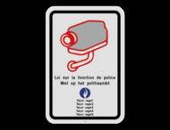 Camerabord België - wet op het politieambt - 2 talig