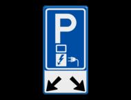 Verkeersbord RVV E08o - oplaadpunt + pijlen - BE04b