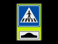 Verkeersbord RVV L02f - FLUOR oversteekplaats / zebrapad met drempel