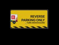 Parkeer- routebord picnic - reflecterend +  eigen ontwerp/opdruk