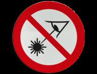 Pictogram - Verboden in de laserstraal te kijken