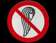 Pictogram - Loshangend lang haar verboden