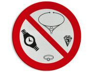 Pictogram - Sieraden verboden