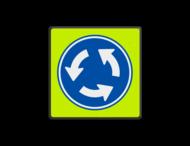 Verkeersbord RVV D01f - Rotonde