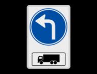 Routebord RVV D05al met vrachtwagen - BT15l