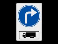 Routebord RVV D05r met vrachtwagen - BT15r