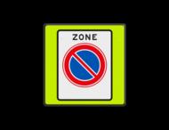 Verkeersbord RVV E01zbf - parkeerverbod - Start parkeerzone