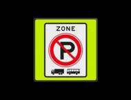 Verkeersbord RVV E01zbf - parkeerverbod vrachtwagens en bussen