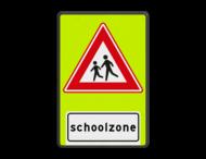 Verkeersbord RVV J37f - FLUOR Schoolzone