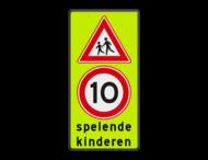 Verkeersbord Spelende kinderen RVV J21 + A1-10