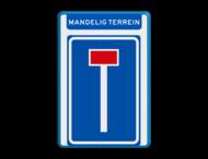 Verkeersbord RVV L08 - Mandelig terrein