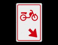 Verkeersbord RVV D103 - Bromfietsers rijbaan wisselen