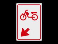 Verkeersbord RVV D104 - Bromfietsers rijbaan wisselen