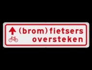 Verkeersbord RVV BW08b 700x200mm - (brom)fietsers oversteken