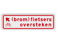 Verkeersbord RVV BW08lb 700x200mm - (brom)fietsers oversteken