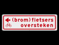 Verkeersbord RVV BW08l 700x200mm - (brom)fietsers oversteken