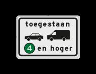 Verkeersbord RVV C22a2 - Onderbord - Milieuzone auto en busje