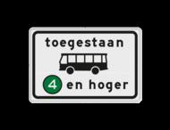 Verkeersbord RVV C22a6 - Onderbord - Milieuzone autobus