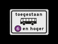 Verkeersbord RVV C22a7 - Onderbord - Milieuzone autobus
