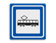 Verkeersbord RVV L03c - Tramhalte