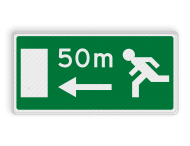 Verkeersbord RVV L19l - Dichtstbijzijnde uitgang links
