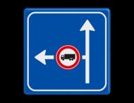Verkeersbord RVV L10-02l-C07 - links verboden voor vrachtverkeer