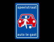Verkeersbord L53b - Speelstraat