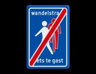 Verkeersbord RVV L54e - Einde Wandelstraat