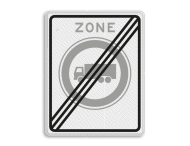Verkeersbord RVV C07zbe - einde zone - Gesloten voor vrachtauto's