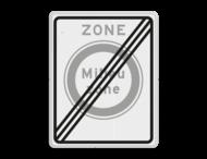 Verkeersbord RVV C22aze - zone - Gesloten voor vervuilende vrachtauto's