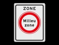 Verkeersbord RVV C22azb - zone - Gesloten voor vervuilende vrachtauto's