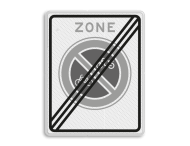 Verkeersbord RVV E03zb - einde parkeerverbod voor (brom-)fietsers