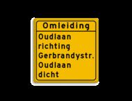 Omleidingsbord - met eigen tekst