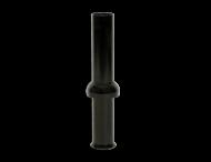 Mast-opzetstuk Ø76mm zwart RAL9017 t.b.v. verkeerslichtmast ø102/133mm