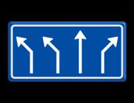 Verkeersbord RVV L04-4 - Pijlbord Voorsorteren