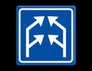 Verkeersbord RVV L04-2 - Pijlbord