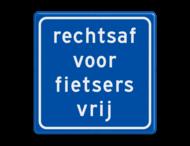 Verkeersbord RVV VR06 - rechtsaf vrij