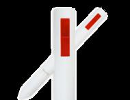 Bermpaal kunststof - Flexibel - 1100x105mm + reflector(en)
