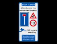 Entreebord doodlopende weg - J21 - A01 + camerabewaking + vt461