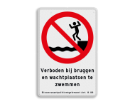 Informaiebord BPR verboden te zwemmen art. 8.08