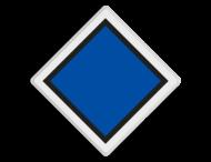 Treinlengtebord - RS 304a - Reflecterend