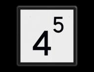 Snelheidsbord - RS 314 - 500x500mm - Reflecterend